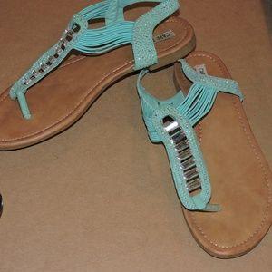 Mint colored sandals - size 10
